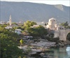 "A view of Mostar City and the old bridge,""Stari Most"""