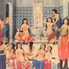 The miniature ?Hamam Pleasure? by Fazıl of Enderun, 18th century