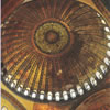Interior view of the dome at the Hagia Sophia