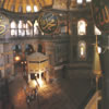 Minbar and the Sultan's gallery (Hunkar Mahfili) at the Hagia Sophia