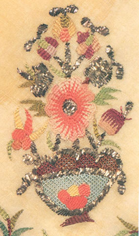 Embroidery, Cevre, Late 18th Century