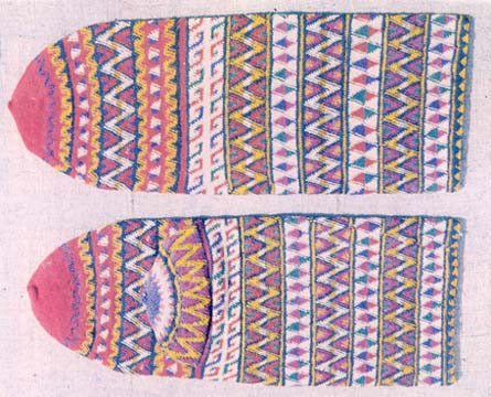 Knitted Socks, Contrast Pattern, Balkan Immigrants, Afyon