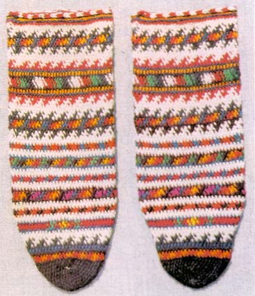 Knitted Socks, Spotted Pattern, Black Sea Region