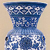 Blue And White Mosque Lamp