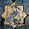 Siren On A Star Shaped Tile, Kubadabad Palace