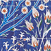 Flower Motifs In Tiles, Topkapi Palace