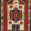 A Rare White Ground Southwestern Caucasia Kazak Prayer Rug