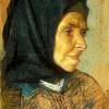 A portrait of an old lady, pastel on paper, 40 x 30 cm, The Museum of Painting and Sculpture in Istanbul
