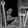 A spoon master, Hüseyin Çakmakçı (Selim Usta) in Bademli, Bodamya (source: www.bademlidernegi.com)