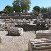 The remains of the tomb of Mausolus Halicarnassus
