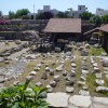 The remains of the tomb of Mausolus, Halicarnassus