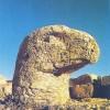 Eagle head on the East terrace, Mount Nemrut