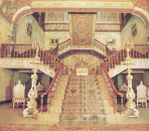The hall of the Selamlik and the staircase at Beylerbeyi Palace