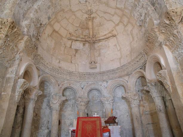 Interior view of El-Adhra Church at Hah