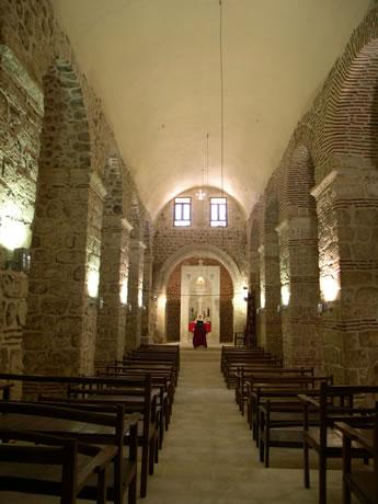 Interior view of Mor Yuhannon Church at Qillit