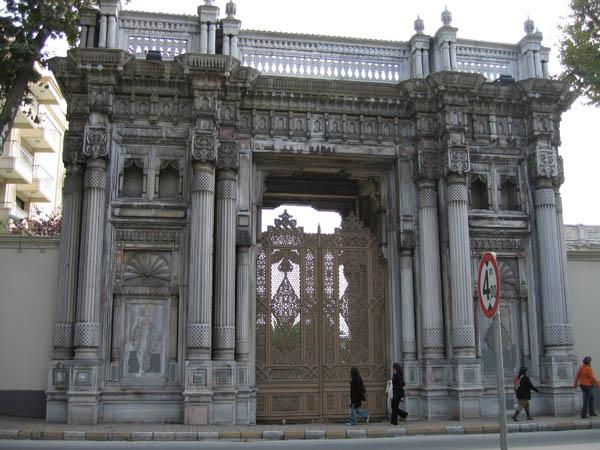 A gate of Ciragan Palace