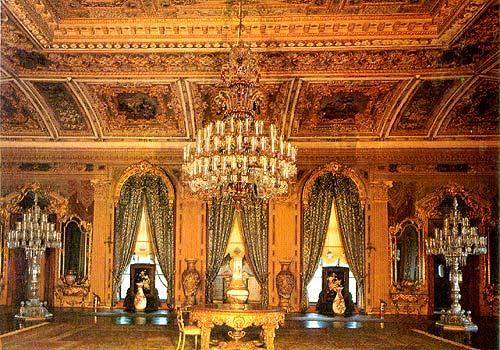 Interior view of Ciragan Palace