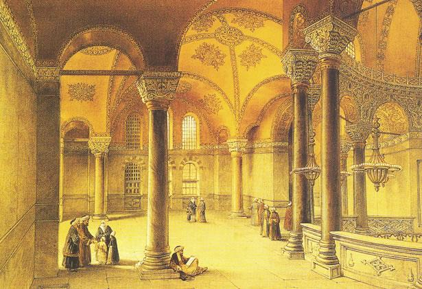 A view of upper gallery from Fossati Album, 19th century