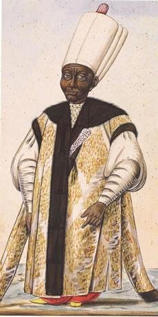The engraving of a chief black eunuch
