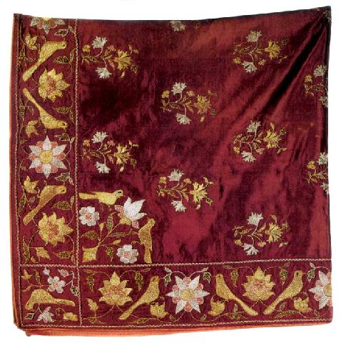Embroidery, Satin Bundle, 18th Century