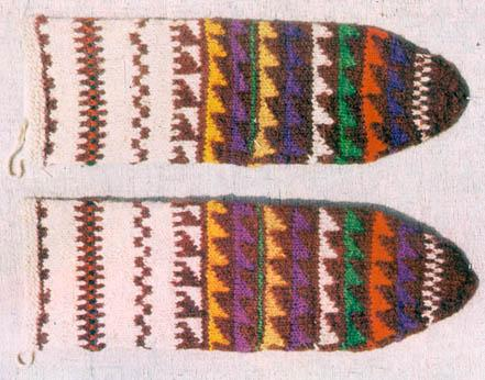 Knitted Socks, Triangle Pattern, Nigde