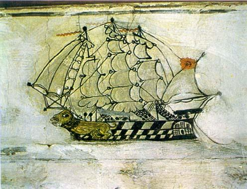 19th Century Ship Drawing