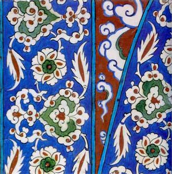 Tile From An Arched Panel