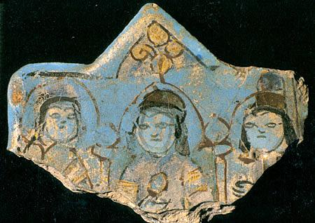 Throne Scene On A Star Shaped Tile, Iranian-Seljuk Minai Technique, Alaeddin Palace