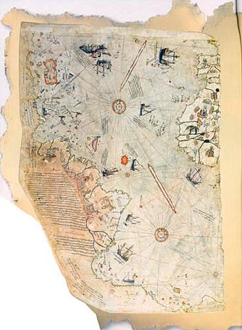 The Map Of The world By Piri Reis