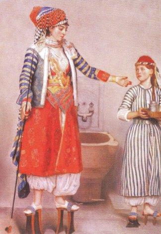 Frankish Woman and Servant at the Turkish bath by Jean Etienne Liotard, 1743