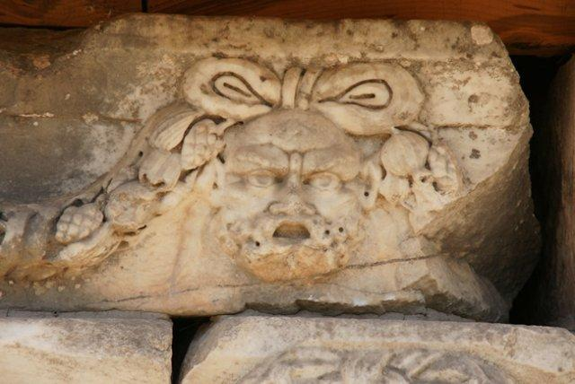 Detail from the Colonnade of the Portico of Tiberius in Aphrodisias