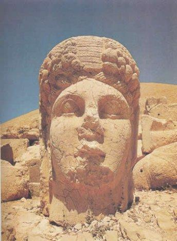 Head of Commagene on the West terrace, Mount Nemrut