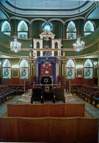 Interior view, Italian Synagogue