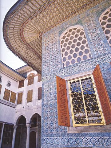 View of Çifte Kasırlar from the Mabeyn Paved Courtyard in the Harem